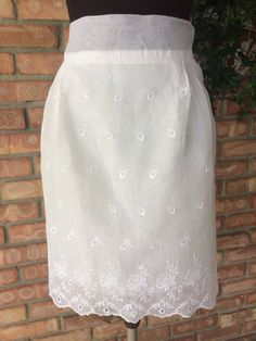 Vintage Sheer White Lace Bridal Wedding Half Apron ~ Lining added ~ Beautiful ~ Wedding Shower Gift ~ Pristine- Polish Wedding Dance ~ Fun! by ArtThatCooks on Etsy