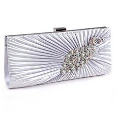Silver Grey Satin Peacock Crystal Pleated Evening Clutch Bag Bridesmaid Bridal Prom Anladia http://www.amazon.co.uk/dp/B009UQT4G6/ref=cm_sw_r_pi_dp_O4n8vb1DZ2G3V