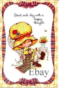 Childhood Characters, Cute Characters, Vintage Cards, Vintage Postcards, Gold Glitter Background, Sarah Kay, Holly Hobbie, Love Painting, Cute Dolls