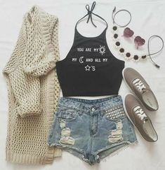 Cute outfits for teens summer fashion outfits 2019 Teenage Outfits, Teen Fashion Outfits, Cute Fashion, Outfits For Teens, Trendy Outfits, Girl Outfits, Fashion Ideas, Trendy Fashion, Fashion 2016