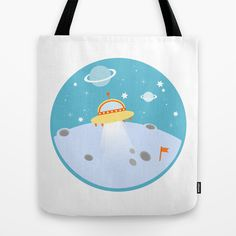 Outer space tote bag on society6