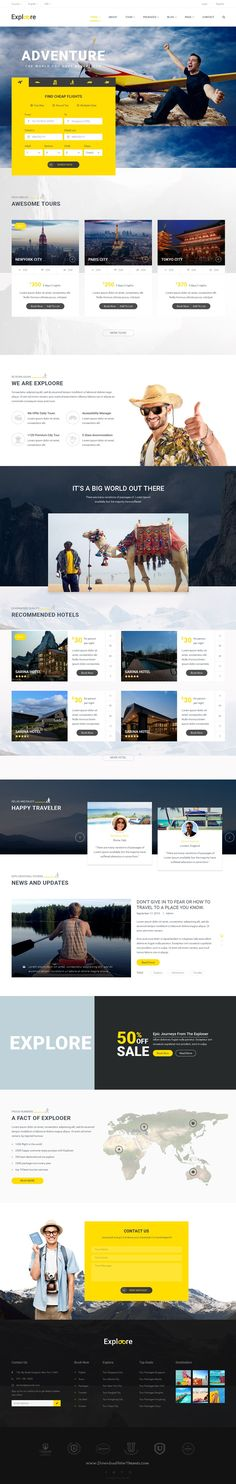 Exploore is a modern & fully responsive bootstrap template which has been designed for travel #website, travel #agency, travel blog, tour operators, #hotel, etc.
