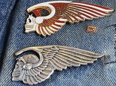 Motorcycle Logo, Motorcycle Clubs, Motorcycle Style, Hells Angels, Harley Tattoos, Giger Art, Angels Logo, Biker Clubs, Vintage Bikes