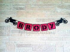 69 ideas dirt bike birthday party ideas cupcake toppers for 2019 Motocross Baby, Motocross Birthday Party, Motorcycle Birthday Parties, Dirt Bike Party, Dirt Bike Birthday, Motorcycle Party, Party Banners, Birthday Banners, Birthday Ideas