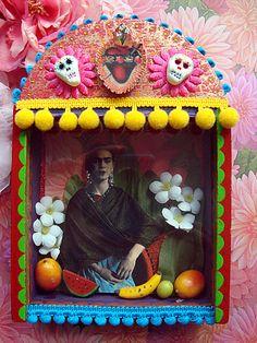 Viva Frida Kahlo shrine by filzgood