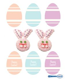 Free printable Easter food flags for treats and eats! Click this pin to print these. #DIY