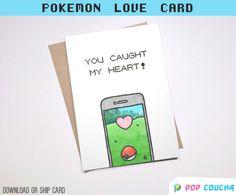 POKEMON ir amor pun tarjeta de felicitación   Puedes elegir amor descargar imprimibles lindo novio novia aniversario equipo instinto Valor
