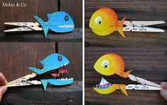 animales con pinzas...this is cute and would be a fun afternoon project with kids:)
