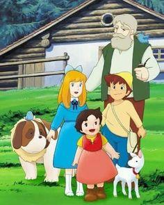 Arupusu no Shōjo Haiji (Heidi, Het Meisje van de Alpen, I used to love this as a kid!Arupusu no Shōjo Haiji (Heidi, Het Meisje van de Alpen, I used to love this as a kid! Heidi Cartoon, Cartoon Tv, Vintage Cartoons, Classic Cartoons, Old Anime, Anime Art, Heidi Movie, Claudia Rodriguez, Masterpiece Theater