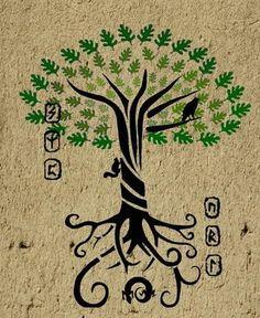 Nordic tree of life tattoo