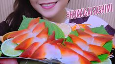 ASMR Hokkigai sashimi (surf clam/red oyster) CHEWY CRUNCHY EATING SOUNDS...