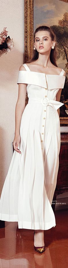 Alessandra Rich Spring Summer 2015 Ready-To-Wear Elegant Dresses, Nice Dresses, Beautiful Outfits, Cool Outfits, Dress Skirt, Dress Up, High Fashion, Womens Fashion, Spring Summer