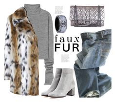 """""""Foxy Faux..."""" by hattie4palmerstone ❤ liked on Polyvore featuring Acne Studios, Polo Ralph Lauren, Gianvito Rossi, Chanel, Topshop and fauxfur"""