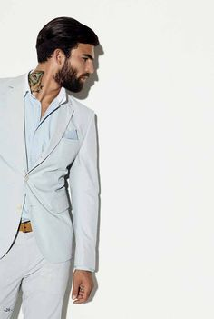 The Well-Dressed . Mode Masculine, Sharp Dressed Man, Well Dressed Men, Fashion Mode, Mens Fashion, Beard Fashion, Mens Style Guide, Raining Men, Suit And Tie