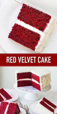 The best Red Velvet Cake has a unique flavor and tender, moist crumb that pairs wonderfully with a tangy, sweet cream cheese frosting. This is a classic cake recipe for a red velvet cake that is quite possibly the best red velvet cake recipe in the world. Southern Red Velvet Cake, Easy Red Velvet Cake, Red Velvet Cheesecake Cake, Velvet Cupcakes, Red Velvet Chocolate Cake, Red Velvet Cake Decoration, Classic Cheesecake, Cheesecake Desserts, Raspberry Cheesecake
