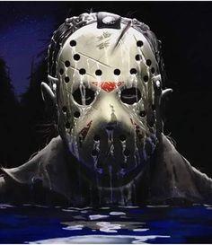 Jason Voorhees-Friday The Arte Horror, Horror Art, Scary Movies, Horror Movies, Friday The 13th Poster, Dark Pictures, Dark Pics, Horror Photos, Slasher Movies