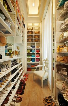 walk in closet design walk in closet design 14 Walk In Closet Designs For Luxury Homes color coded rich walk in closet design in cream and wood