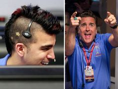 "... Of Missions engineers Bobak Ferdowsi (left) and Adam Steltzner — also known as ""Mokawk guy"" and ""Elvis guy,"" respectively — helping land the Mars Curiosity rover.  Nerds will rule the world!"