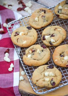White Chocolate Cranberry Cookies, White Chocolate Chips, Cookie Bars, Tasty, Sons, Desserts, Recipes, Festive, Holidays