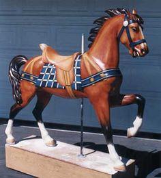 rare carousel animals | Antique Carousel Horses, Carousel Animals, Carousel Figures