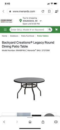 Backyard Creations, Patio Sets, Patio Table, Round Dining, Model Homes, Outdoor Furniture, Outdoor Decor, Home Decor, Decoration Home