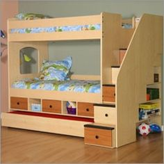 Utica Storage Bunk Bed with Stairs and Optional Trundle Bed  $2,730.00