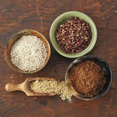 Some of the most tasty and hard-to-find salts are available in this gourmet spice set ($30). It's a great g...