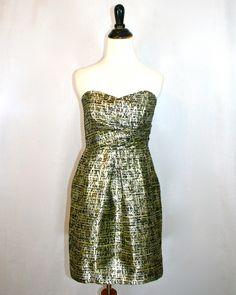 Shoshanna Metallic Jacquard Sylvie Dress by Violet Clover