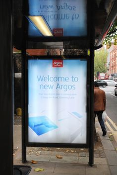 Bus stop backlit 6 sheet advertising the new Argos digital store in ...