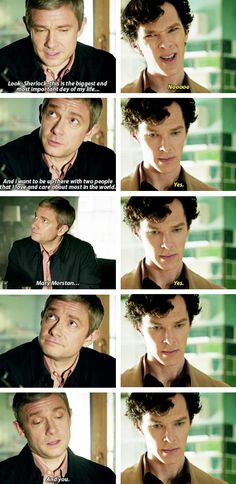 i want to be up there with two people that i love and care about most in the world gifset  - sherlock series 3 episode 2 the sign of three