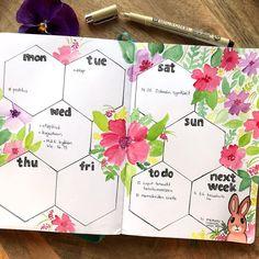 Bullet journal week layout. - made by Annukka Palmén -