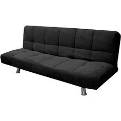 your zone mini futon lounger, black/silver | Shop home | Kaboodle