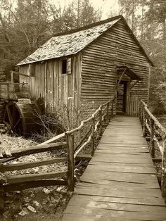 grist mill in Great Smokey Mountains