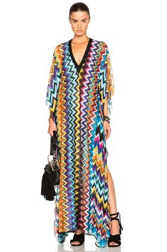 Shop for Missoni Mare Maxi Caftan in Multi Lurex at FWRD. Missoni Mare, Cover Up, Swim Cover, Givenchy, Caftan Dress, Women's Swimwear, Suit, Mood, Clothes