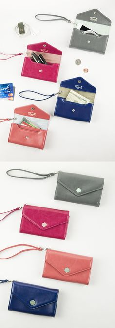 This is the most functional wallet you will find. It has two big compartments for your essentials, and  even more conveniently, you can charge your device or plug in earphones while it's still in your wallet! It' small, compact and has a detachable strap. Go lightweight with the Bonne Nouvelle Leather Card Wallet & Strap Set!