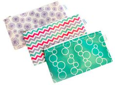 Cloth Snack Bags - Set of 3 - Yummi Pouch (Sweet) Snack Bags, Lunch Snacks, Lunch Box, Go Camping, Bag Storage, Chevron, Dots, Make It Yourself, Sweet