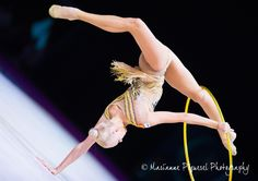 Yana Kudryavtseva (Russia) got 18.166 points for hoop at Qualification Olympic Games 2016 (dropped the hoop)