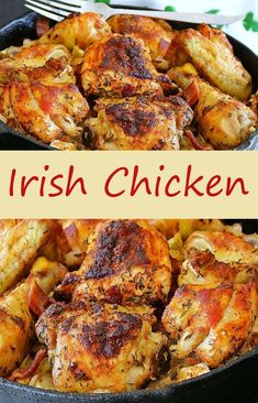 Irish Chicken - Sub radishes for potatoes to reduce carbs Sandwich Bar, Roast Beef Sandwich, Turkey Recipes, Chicken Recipes, Dinner Recipes, Dinner Ideas, Beef Recipes, Cabbage And Potatoes, Bacon