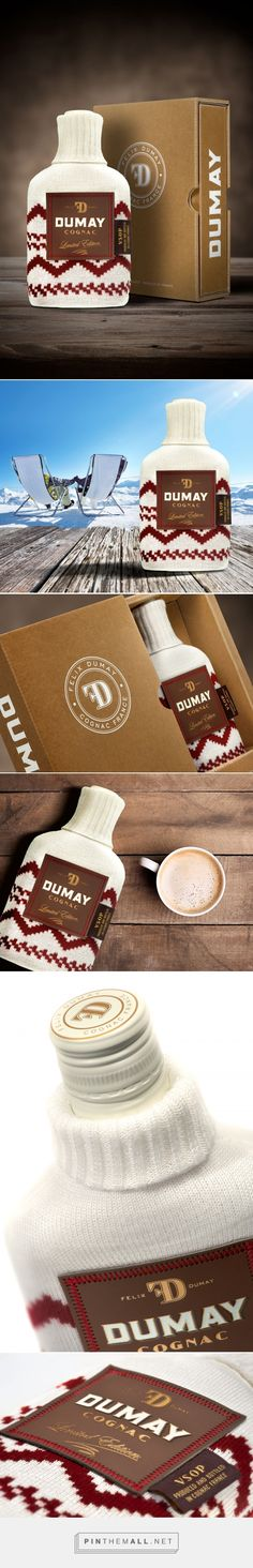 Cognac in knit wear! Dumay Cognac Winter Edition packaging design by LINEA Packaging - http://www.packagingoftheworld.com/2017/06/dumay-cognac-winter-edition.html