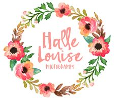 Premade Logo Design Vintage Floral Watercolor by LeavesandBows