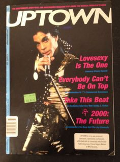 Prince UPTOWN Magazine Spring Summer 2000 Issue 42 Lovesexy Album Bobby Z Interv