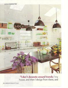 The Polished Pebble blog -- I have always adored this kitchen.  This gal is a great stylist.