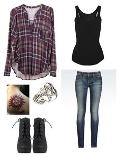 """""""Winchesters Sister"""" by cheshirecat0900 ❤ liked on Polyvore featuring Lush Clothing, Isabel Marant, Armani Jeans and Pamela Love"""