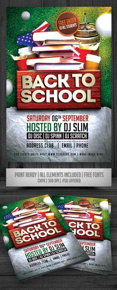 Back To School Flyer | Party Flyer, Photoshop And School