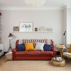 This homeowner's house-hunting woes were solved by a workmate, who had heard that she was desperate to move. Minor changes have made it perfect Colorful Furniture, Cheap Furniture, Furniture Design, Furniture Upholstery, Living Room Furniture, Kitchen Furniture, Terrace House Exterior, Classic Furniture, Interior Design Inspiration