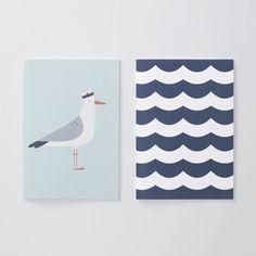 Seaside Seagull Notebooks