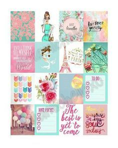 Pastel Themed Planner Stickers for use with Erin Condren Life Planner **Instant…