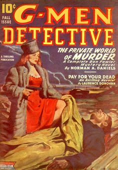 dangerous woman pulp, G-Men Detective 1945-Fall