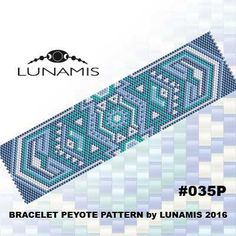 PATTERN ONLY. Create this beautiful peyote cuff bracelet.  Miyuki Delica Beads size 11/0 Odd count with 4 bead colors. 31 bead columns by 91