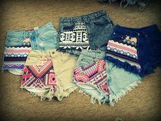High-waisted shorts DIY patterns